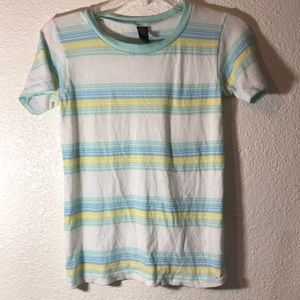 Vintage striped fitted  tee